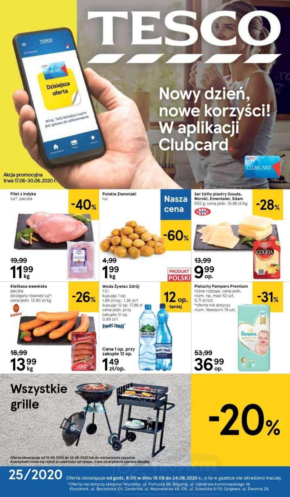 Gazetka promocyjna Tesco do 24/06/2020 str.1
