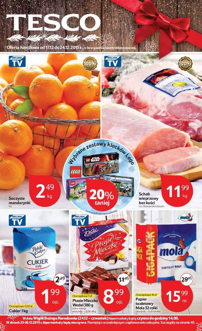 Gazetka promocyjna Tesco do 24/12/2015 str.0
