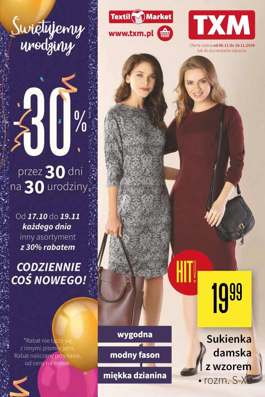 Gazetka promocyjna Textil Market do 19/11/2019 str.0