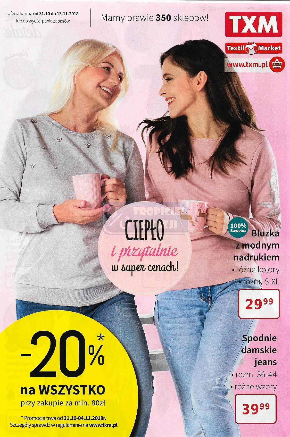 Gazetka promocyjna Textil Market do 13/11/2018 str.0