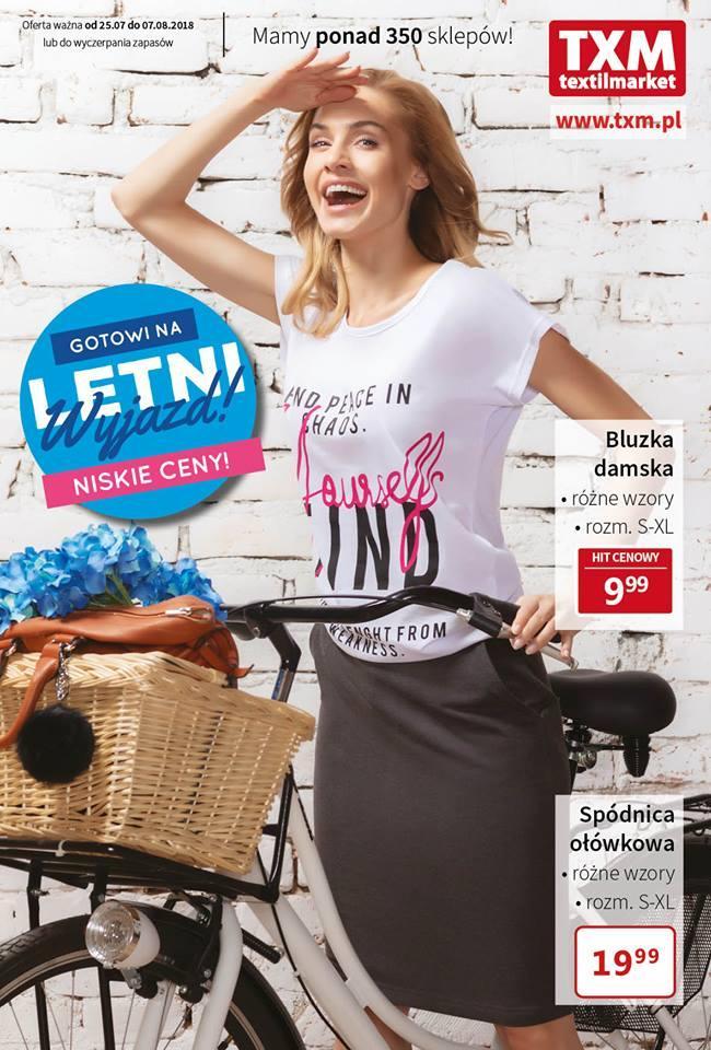 7f8b5371fb Gazetka promocyjna Textil Market do 07 08 2018 str.1
