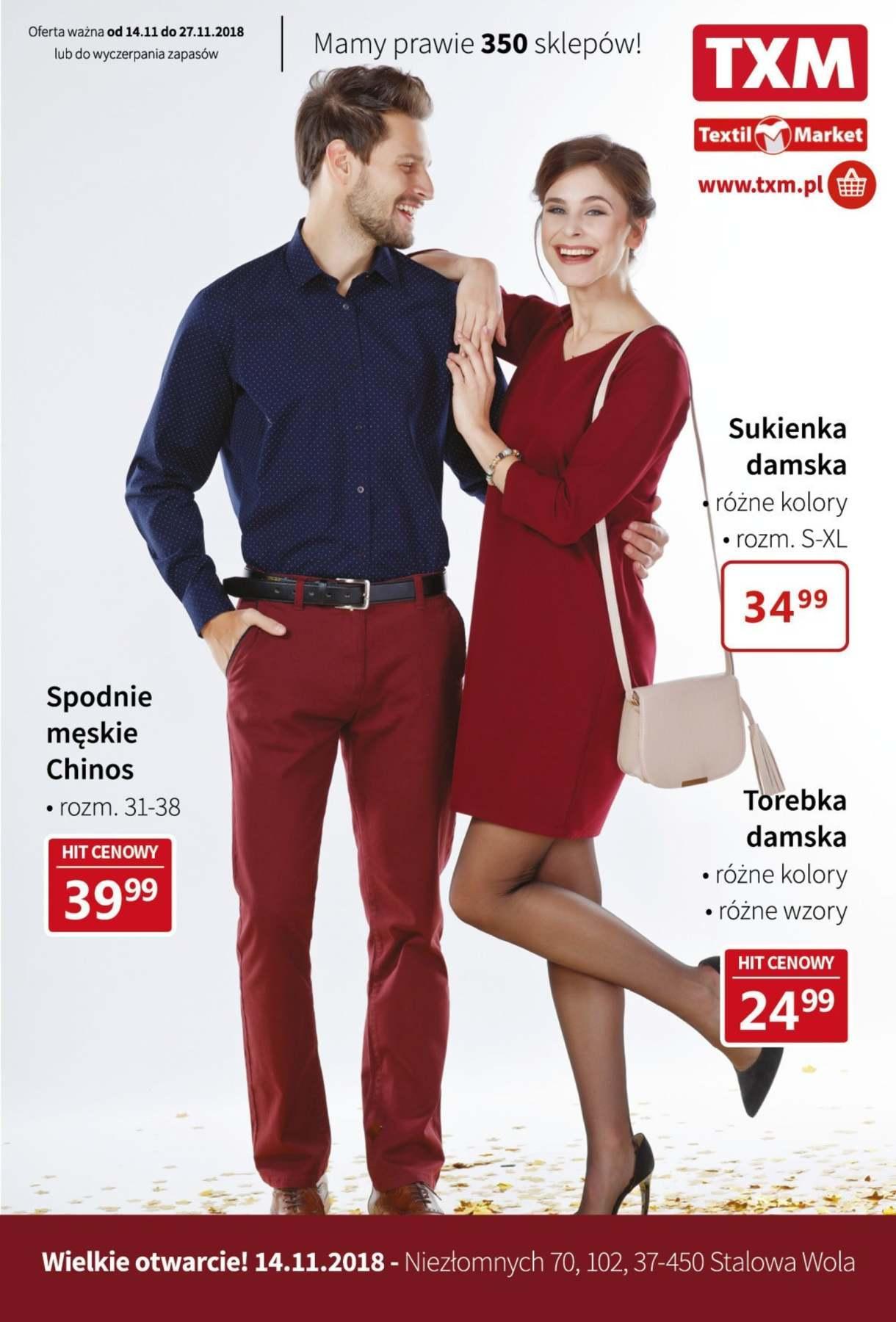 Gazetka promocyjna Textil Market do 27/11/2018 str.0
