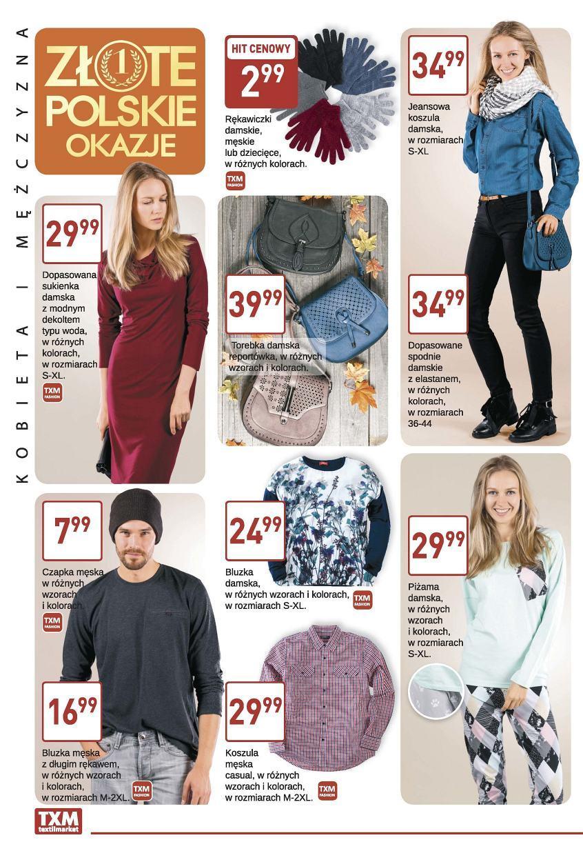 Gazetka promocyjna Textil Market do 17/10/2017 str.1