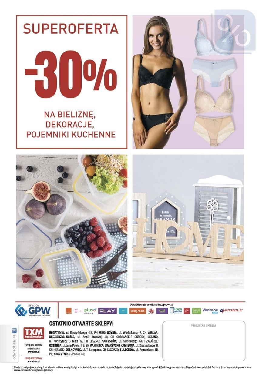 Gazetka promocyjna Textil Market do 07/11/2017 str.1