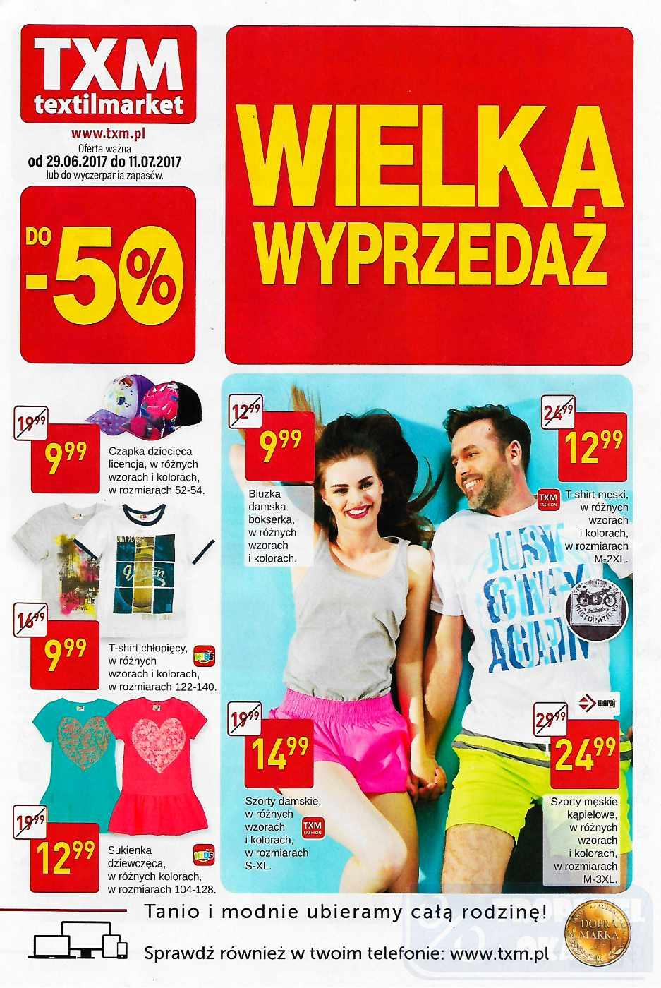 Gazetka promocyjna Textil Market do 11/07/2017 str.0