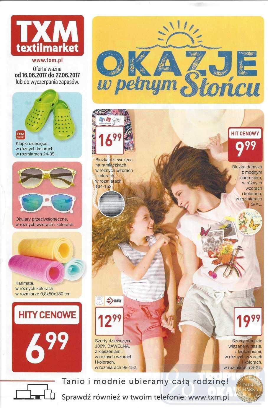 Gazetka promocyjna Textil Market do 27/06/2017 str.0