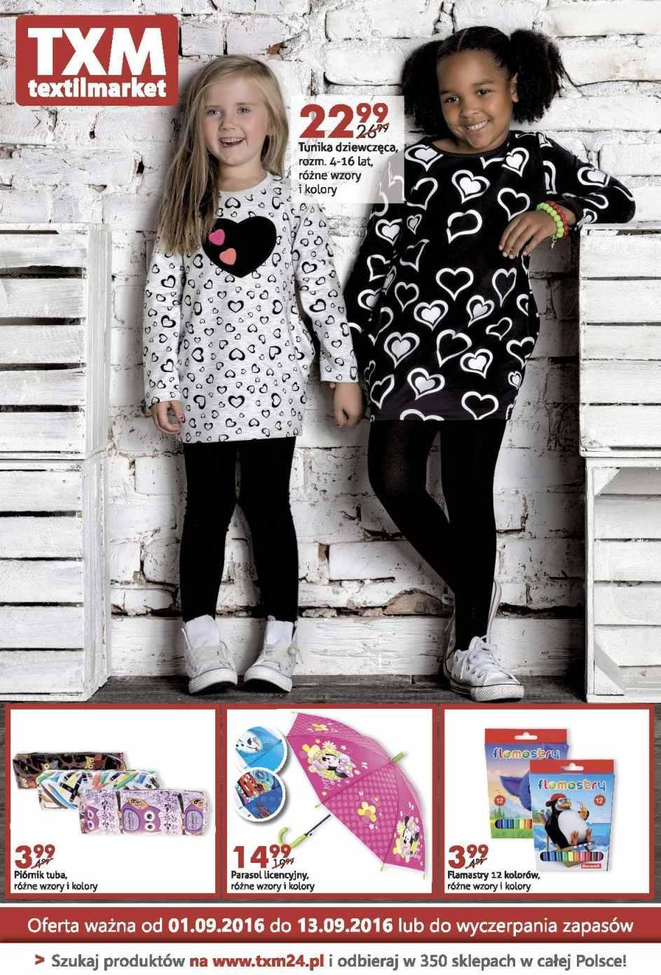 Gazetka promocyjna Textil Market do 13/09/2016 str.0