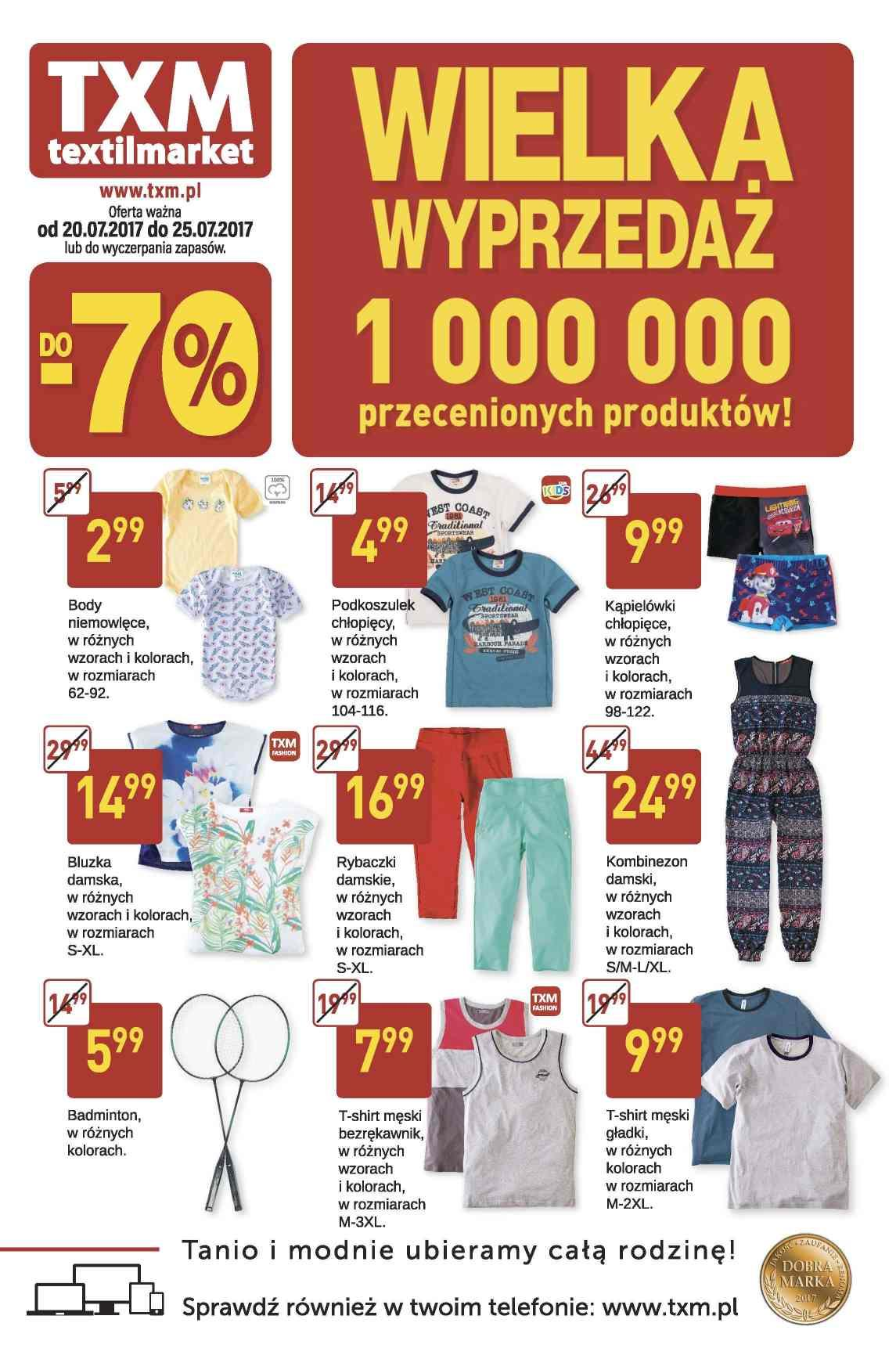 Gazetka promocyjna Textil Market do 25/07/2017 str.0