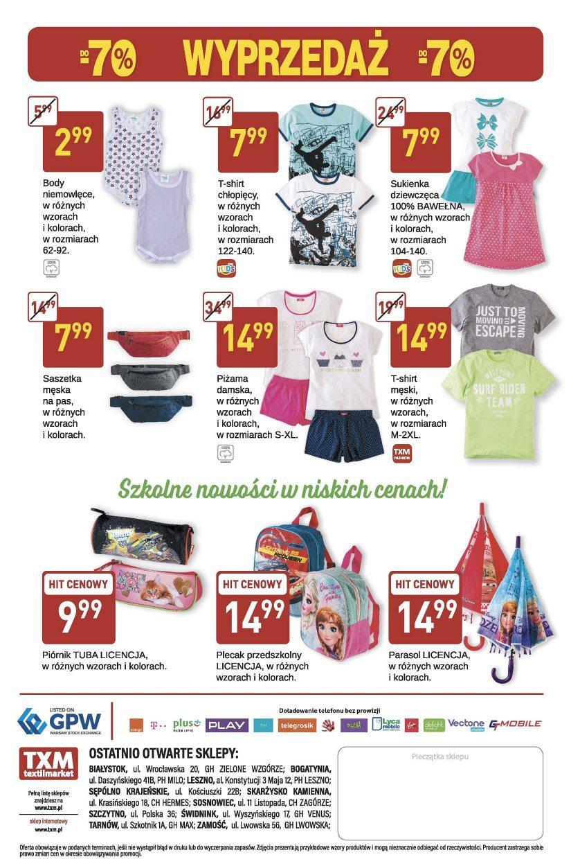Gazetka promocyjna Textil Market do 01/08/2017 str.1