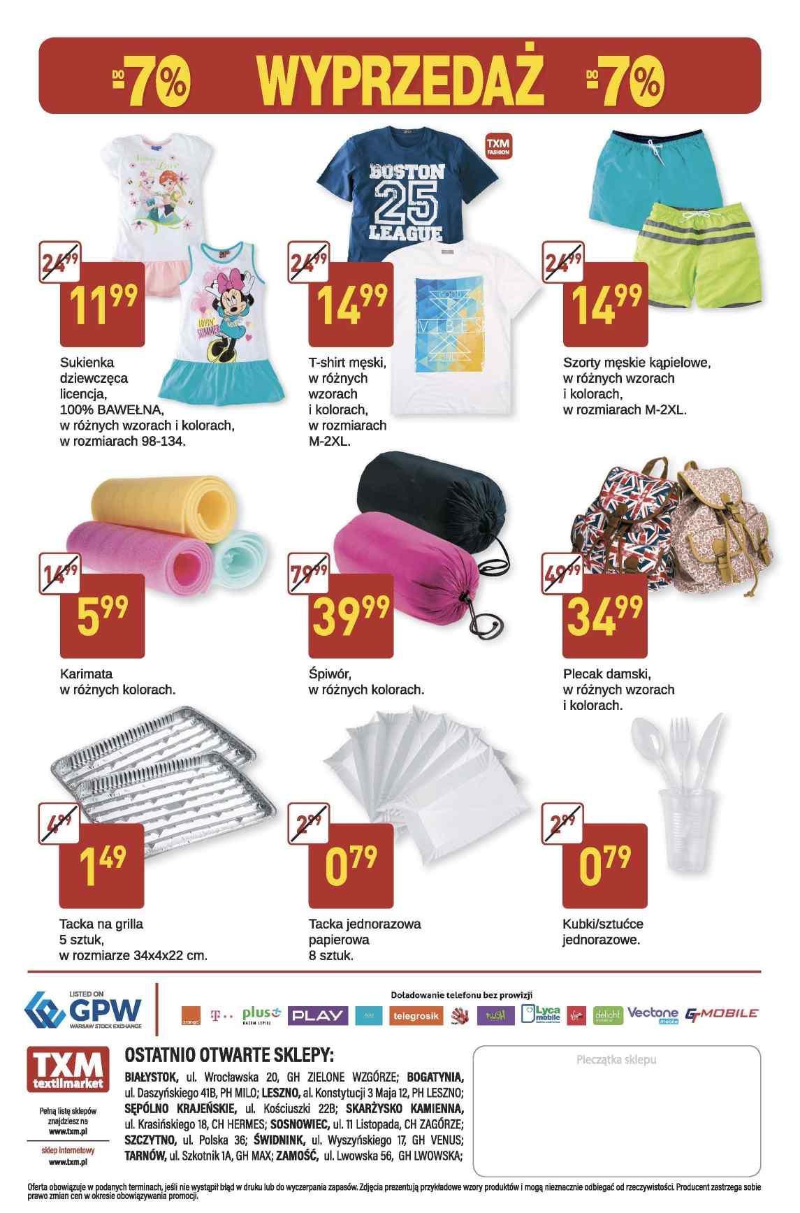 Gazetka promocyjna Textil Market do 25/07/2017 str.1