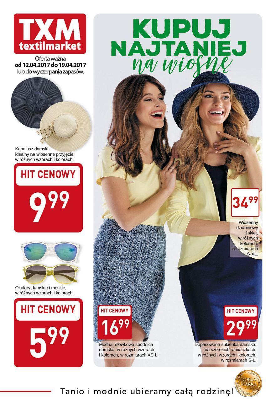 Gazetka promocyjna Textil Market do 19/04/2017 str.0