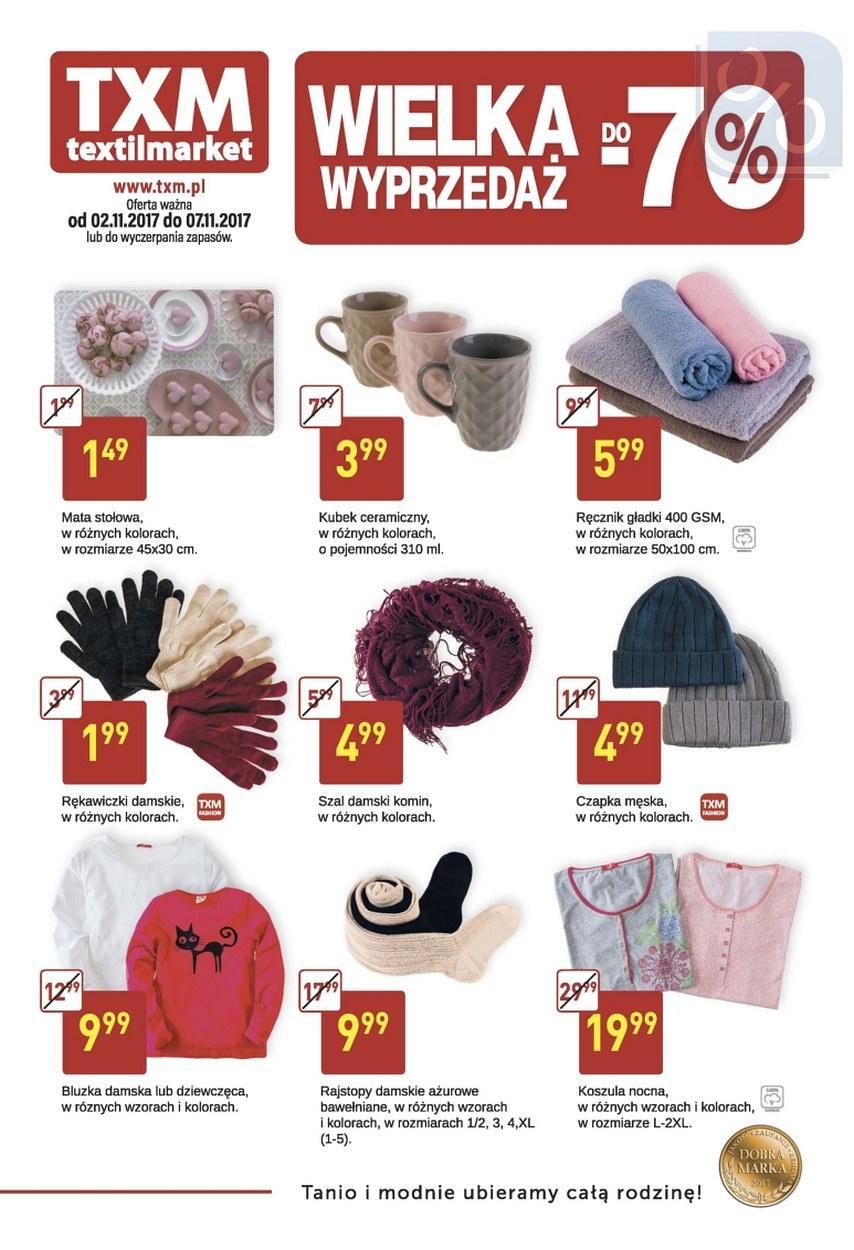 Gazetka promocyjna Textil Market do 07/11/2017 str.0