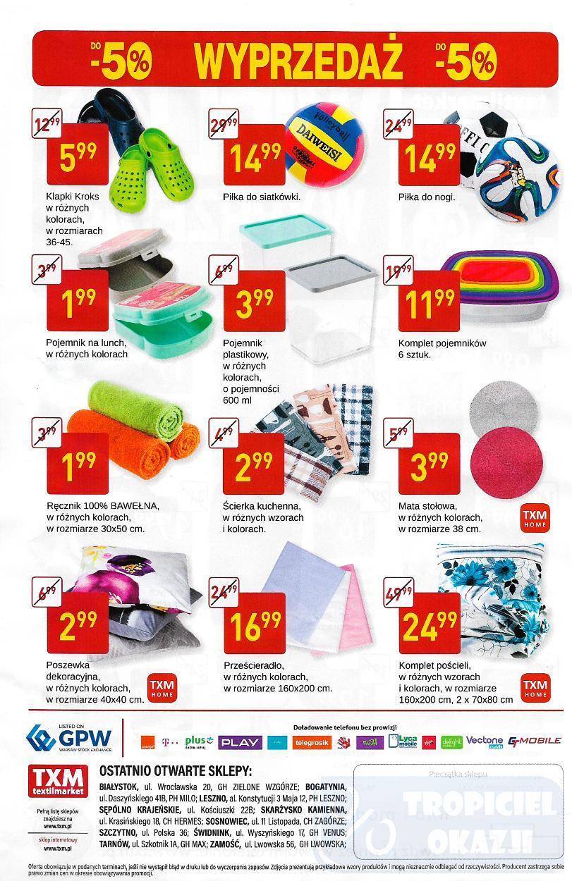 Gazetka promocyjna Textil Market do 18/07/2017 str.1
