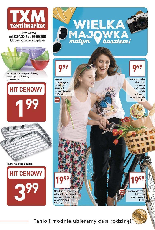 Gazetka promocyjna Textil Market do 09/05/2017 str.0