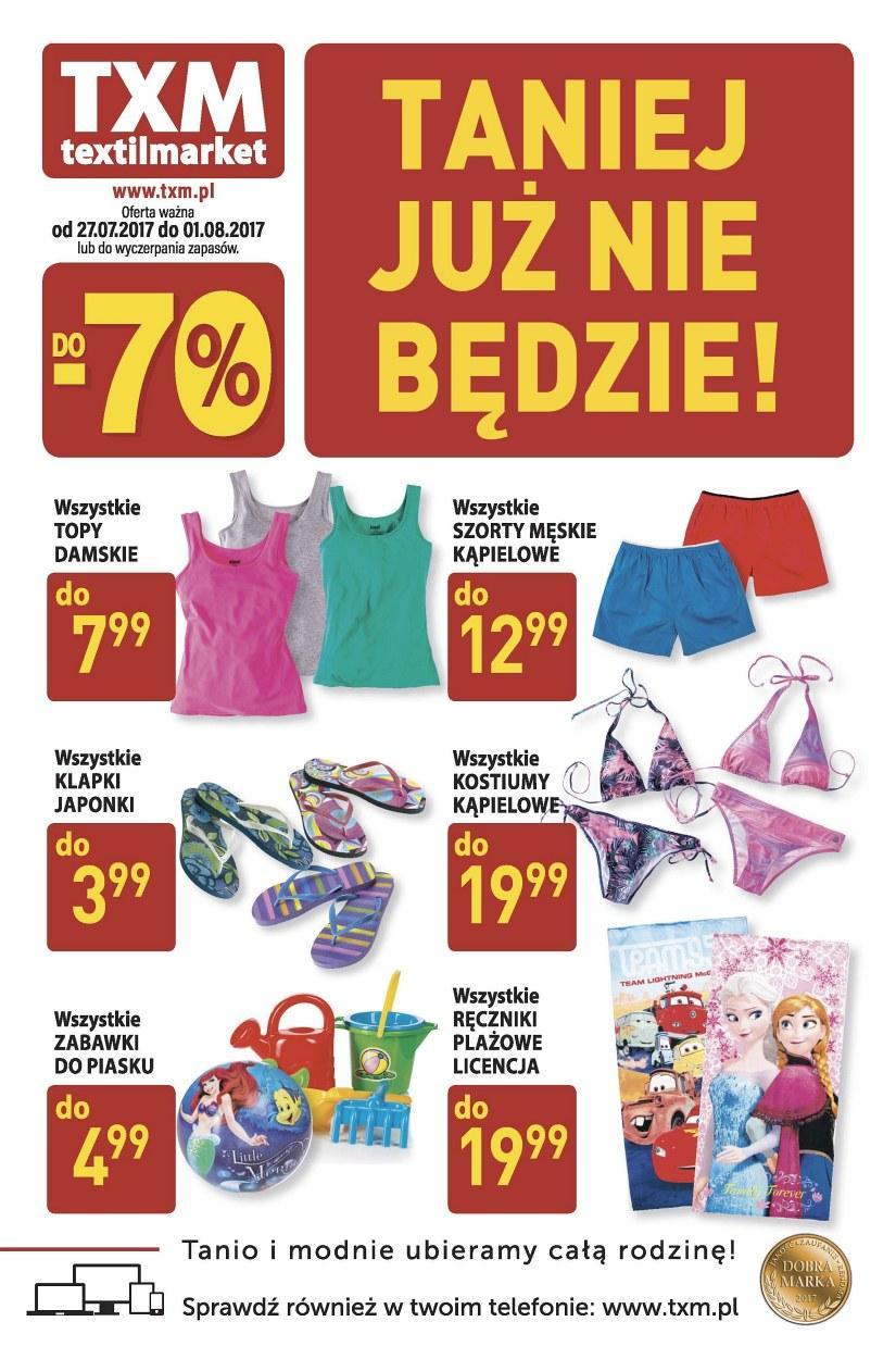 Gazetka promocyjna Textil Market do 01/08/2017 str.0