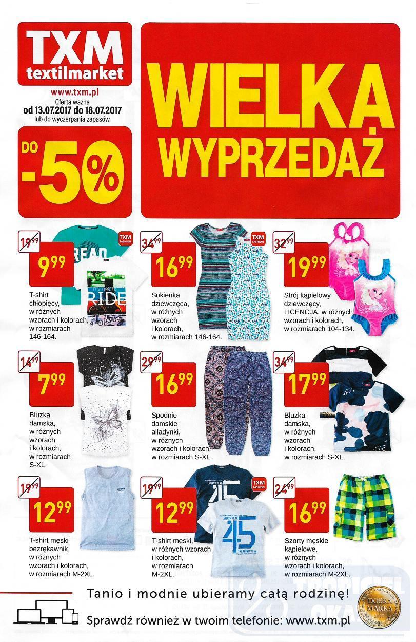 Gazetka promocyjna Textil Market do 18/07/2017 str.0