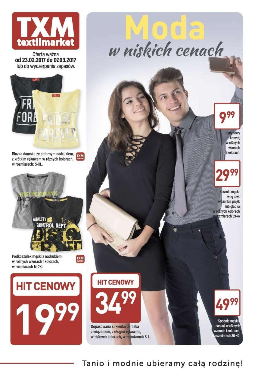 Gazetka promocyjna Textil Market do 07/03/2017 str.0