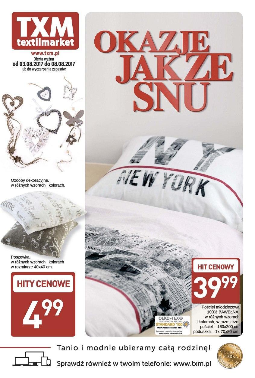 Gazetka promocyjna Textil Market do 08/08/2017 str.0