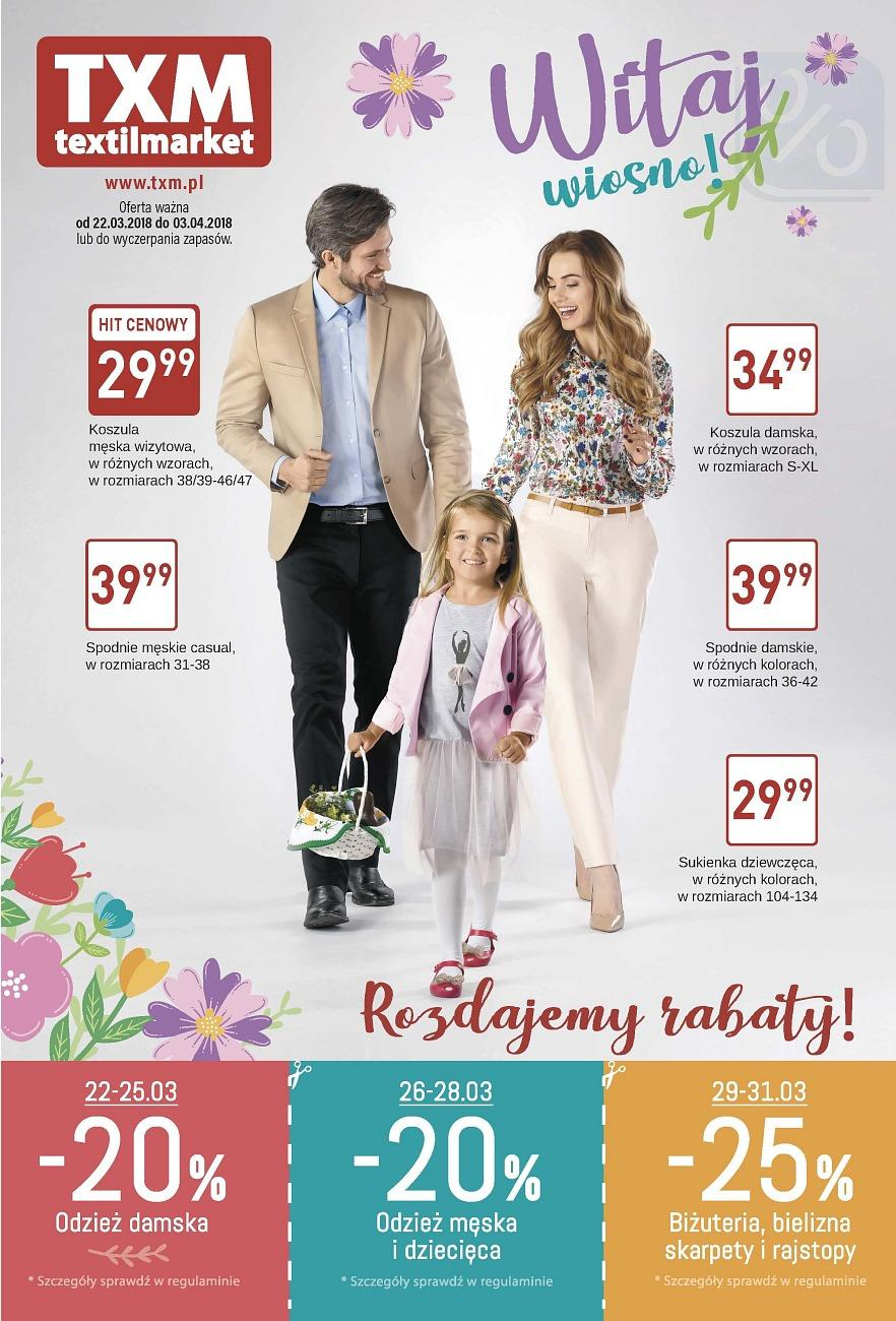 Gazetka promocyjna Textil Market do 03/04/2018 str.0