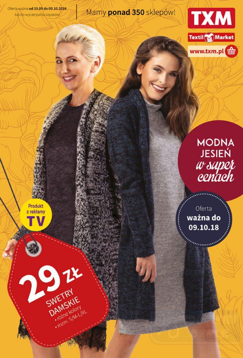 Gazetka promocyjna Textil Market do 09/10/2018 str.0