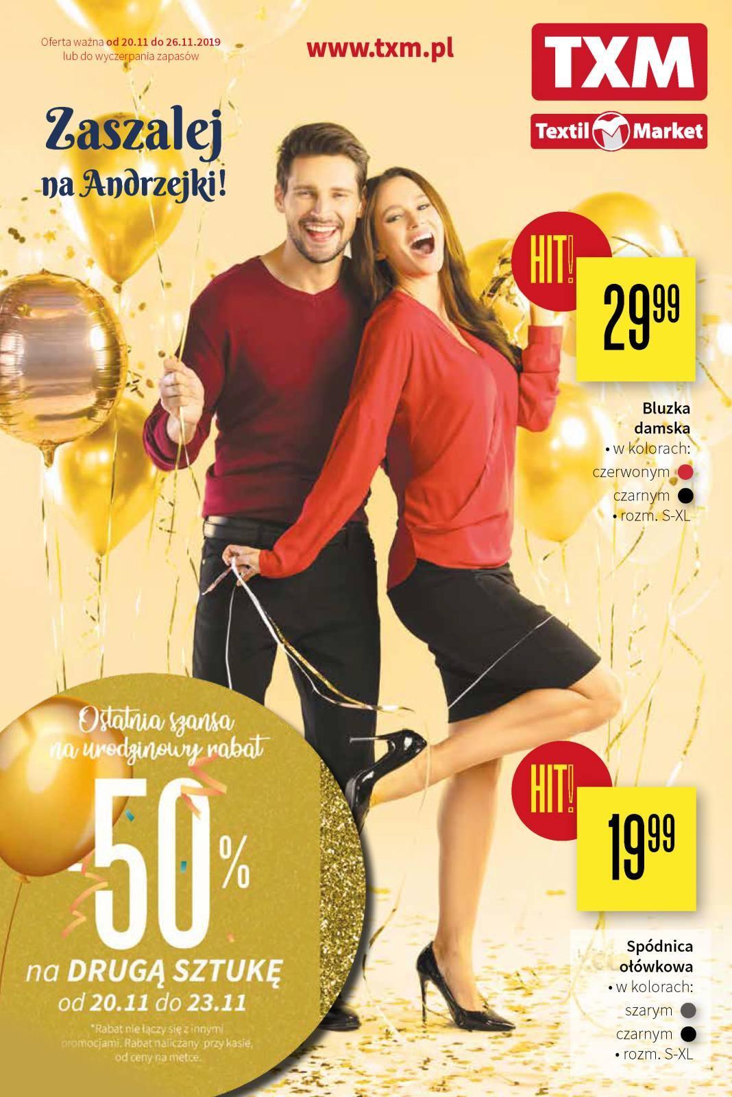 Gazetka promocyjna Textil Market do 26/11/2019 str.0