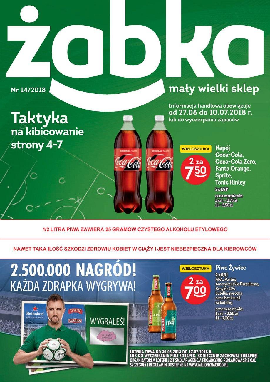 Gazetka promocyjna Żabka do 10/07/2018 str.0