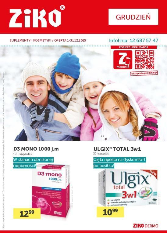 Gazetka promocyjna Ziko Apteka do 31/12/2015 str.1