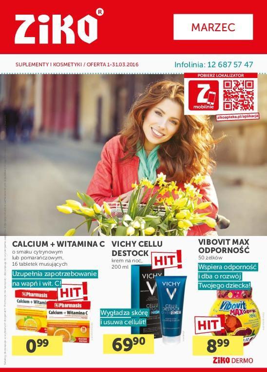 Gazetka promocyjna Ziko Apteka do 31/03/2016 str.1